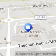 Karte Netto Filiale Linden, Deutschland