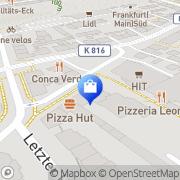 Karte Apotheke am Ziegelhüttenplatz Frankfurt Flughafen, Deutschland