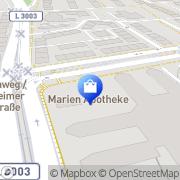 Karte Marien-Apotheke am Marbachweg Frankfurt Flughafen, Deutschland