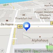 Karte WDA Wirtschaftsakademie Deutscher Apotheker Offenbach, Deutschland