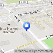 Karte Netto Filiale Augustdorf, Deutschland