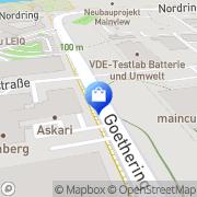 Karte Goethe-Apotheke Offenbach, Deutschland