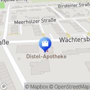 Karte Distel-Apotheke Frankfurt Flughafen, Deutschland