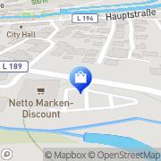 Karte Netto Filiale Aach, Deutschland
