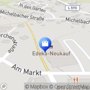 Karte Netto Filiale Schwarzach, Deutschland