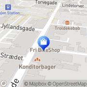 Kort Centrum Cykler - Fri Cykler Vejen, Danmark