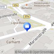 Karte MILANO Design & Leuchten GmbH Stuttgart, Deutschland