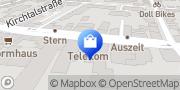 Karte Telekom Shop - Geschlossen Stuttgart, Deutschland