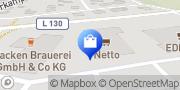 Karte NETTO Deutschland - schwarz-gelber Discounter mit dem Scottie Wacken, Deutschland