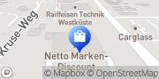 Karte Netto Filiale Itzehoe, Deutschland