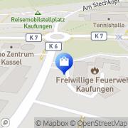 Karte Feuerwehrstützpunkt Kaufungen, Deutschland