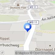 Karte Die Blumenwerkstatt Uettingen, Deutschland