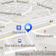Karte Kanzian Doris - Trafik im Bahnhof Dornbirn, Österreich