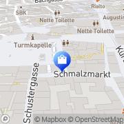 Karte WMF Würzburg, Deutschland