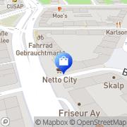 Karte Netto City Filiale Hamburg, Deutschland