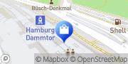 Karte Einkaufsbahnhof Hamburg Dammtor Hamburg, Deutschland