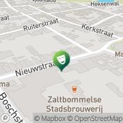 Kaart Poorterij Theater De Zaltbommel, Nederland