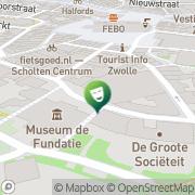 Kaart Odeon De Spiegel Theaters Zwolle, Nederland
