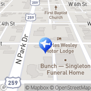 Map Hickory Hill Cabins Broken Bow, United States