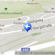 Karte Haus Flatscher Sankt Anton am Arlberg, Österreich