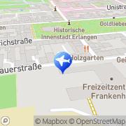 Karte Jugendherberge Erlangen Erlangen, Deutschland