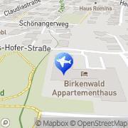 Karte Appartement-Haus Birkenwald Seefeld in Tirol, Österreich