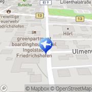 Karte Hotel Pension Auernhammer Ingolstadt, Deutschland