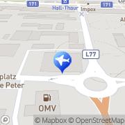 Karte Sportwagenvermietung - R8 Mieten Hall in Tirol, Österreich