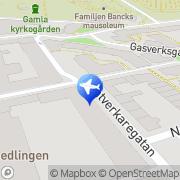 Karta Helsingborgs Vandrarhem Centrum Helsingborg, Sverige
