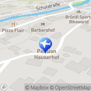 Karte Frühstückspension Hauserhof Kaprun, Österreich