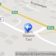 Karta Björn Olsson Taxi AB Åre, Sverige