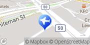 Map Europcar South Melbourne Southbank, Australia