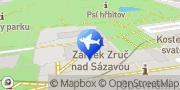 Map Zámek Zruč nad Sázavou Zruč nad Sázavou, Czech Republic