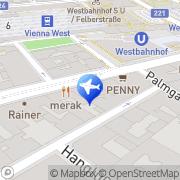 Karte Wombats City Hostel Wien, Österreich