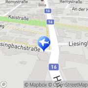 Karte Frühstückspension Stefanie Wien, Österreich