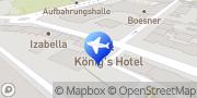 Karte Pension König's Cafe Wien, Österreich