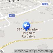 Karta HB Vandrarhemmet Rosenfors Borgholm, Sverige
