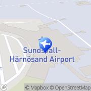 Karta Europcar Sundsvall Härnösands Flygplats Sundsvall, Sverige