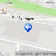 Karta Europcar Stockholm Täby Täby, Sverige