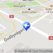 Kartta Ämnas Taxi Godby, Suomi