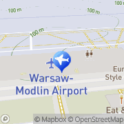 Mapa Interrent Warszawa Modlin Airport Nowy Dwór Mazowiecki, Polska