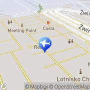 Mapa Car Hire in Varsovia - Chopin Airport - InterRent Warszawa, Polska