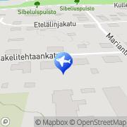 Kartta Taksi Esa Peltonen Uusikaupunki, Suomi