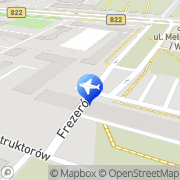 Mapa Multi Taxi Radio Lublin, Polska