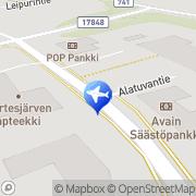 Kartta Kauhavan seurakunta Palojärven leirikeskus Kortesjärvi, Suomi