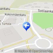 Kartta Ala-Orvolan Puutarhamyymälä Tampere, Suomi