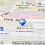 Kartta Taksiasema Kirkkonummi asema Kirkkonummi, Suomi