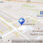 Kartta Pääkaupunkiseudun City-Taxi Oy Espoo, Suomi