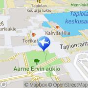 Kartta Taksiasema Espoo Tapiola Tapiontori Espoo, Suomi