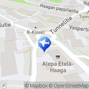 Kartta Taksiasema Helsinki Etelä-Haaga Helsinki, Suomi
